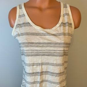 Striped tank top by Eddie Bauer - creme with gray